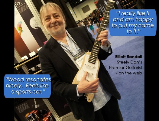 Elliott Randall raving about his Rambler Professional Travel Guitar