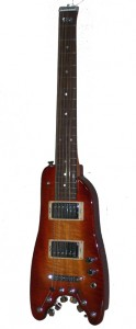 Cherry Sunburst Custom Rambler Electric Portable Guitar - front view