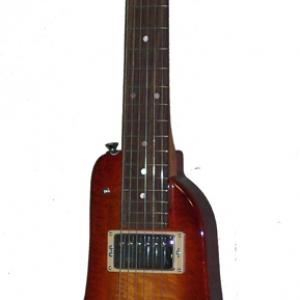 Cherry Sunburst Custom Rambler Electric Portable Guitar - front view