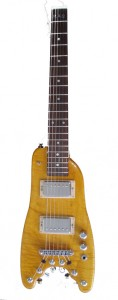 Amber Custom Rambler Electric Portable Guitar - front view