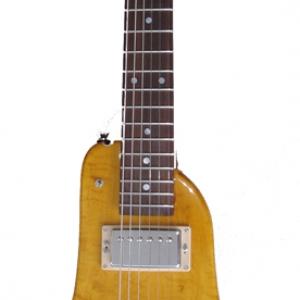 Amber Custom Rambler Electric Portable Guitar - front view