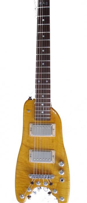 Electric Portable Guitar -  Amber Custom Rambler