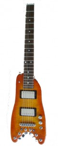 Tangerine Burst Custom Rambler Electric Travel Guitar - front view