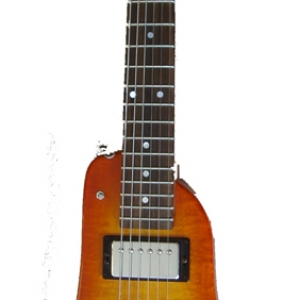 Tangerine Burst Custom Rambler Electric Travel Guitar - front view