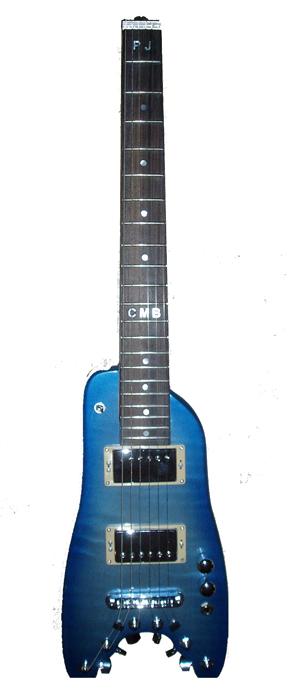 Pearly Blue Custom Rambler Travel Guitar