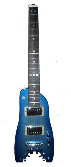Electric Portable Guitar Pearly Blue Custom Rambler