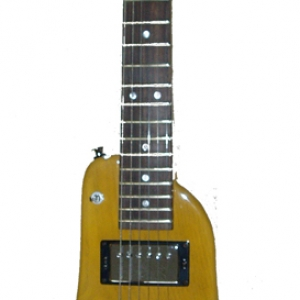 Amber Custom Rambler Electric Travel Guitar - front view