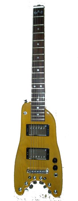 Electric Travel Guitar Custom Rambler Tele Blond