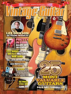 Vintage Guitar Magazine Cover