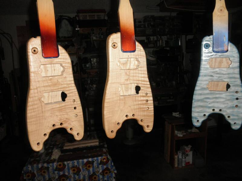 Rambler Travel Guitars ready for the paint shop