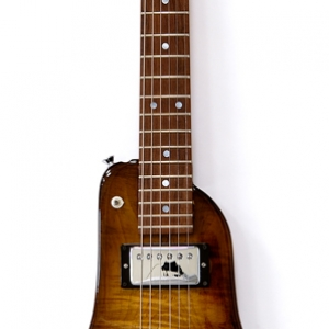 Tobacco Burst Custom Rambler Electric Travel Guitar - front view