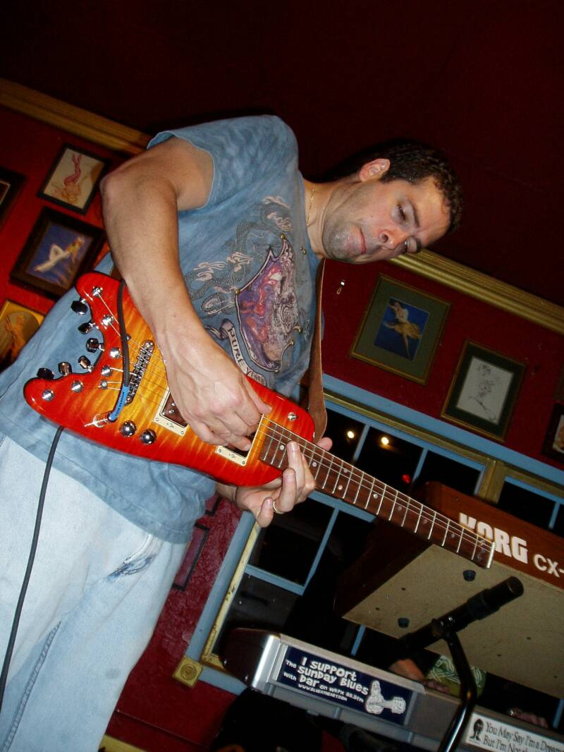Endorser Albert Castiglia wailing on his Rambler Professional Travel Guitar