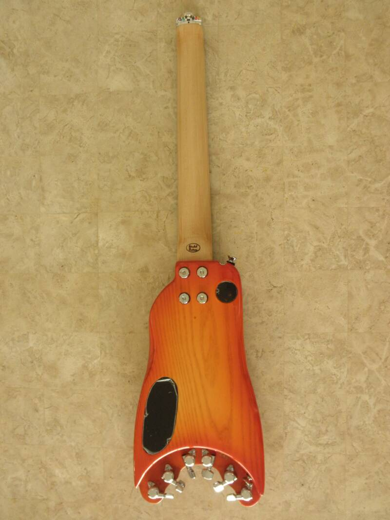 Custom Rambler Travel Guitar  - Ash body in Tangerine Burst