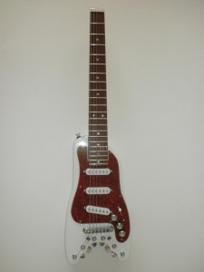 Custom STROBELCASTER Travel Guitar - front view