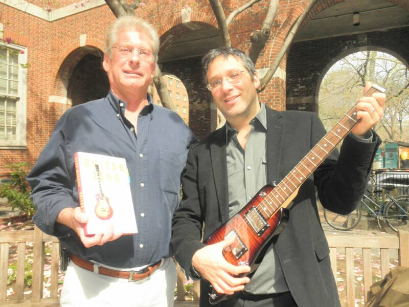 Gary Marus author of Guitar Zero with his Rambler Travel Guitar