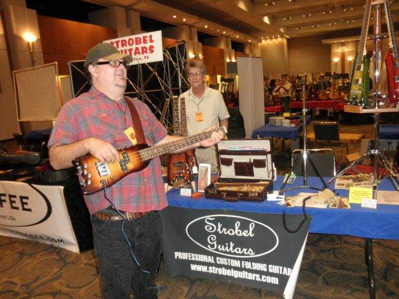 Matt Smith checking out a Rambler Travel Bass