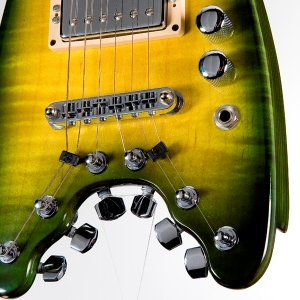 Rambler Custom Portable Guitar - Green Burst