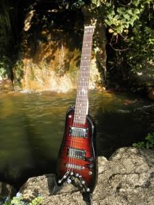 Tangerine Burst Rambler Class Travel Guitar