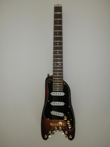 Rambler STROBELCASTER Travel Guitar - front view