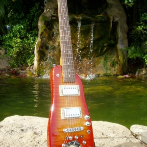 Custom Rambler Professional Travel Guitar - Tangerine Burst