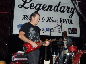 Tommy Castro playing the blues with his Ramber Travel Guitar