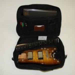 Detachable Neck Travel Guitar - Tobacco Sunburst Rambler™ ready to go in a computer bag