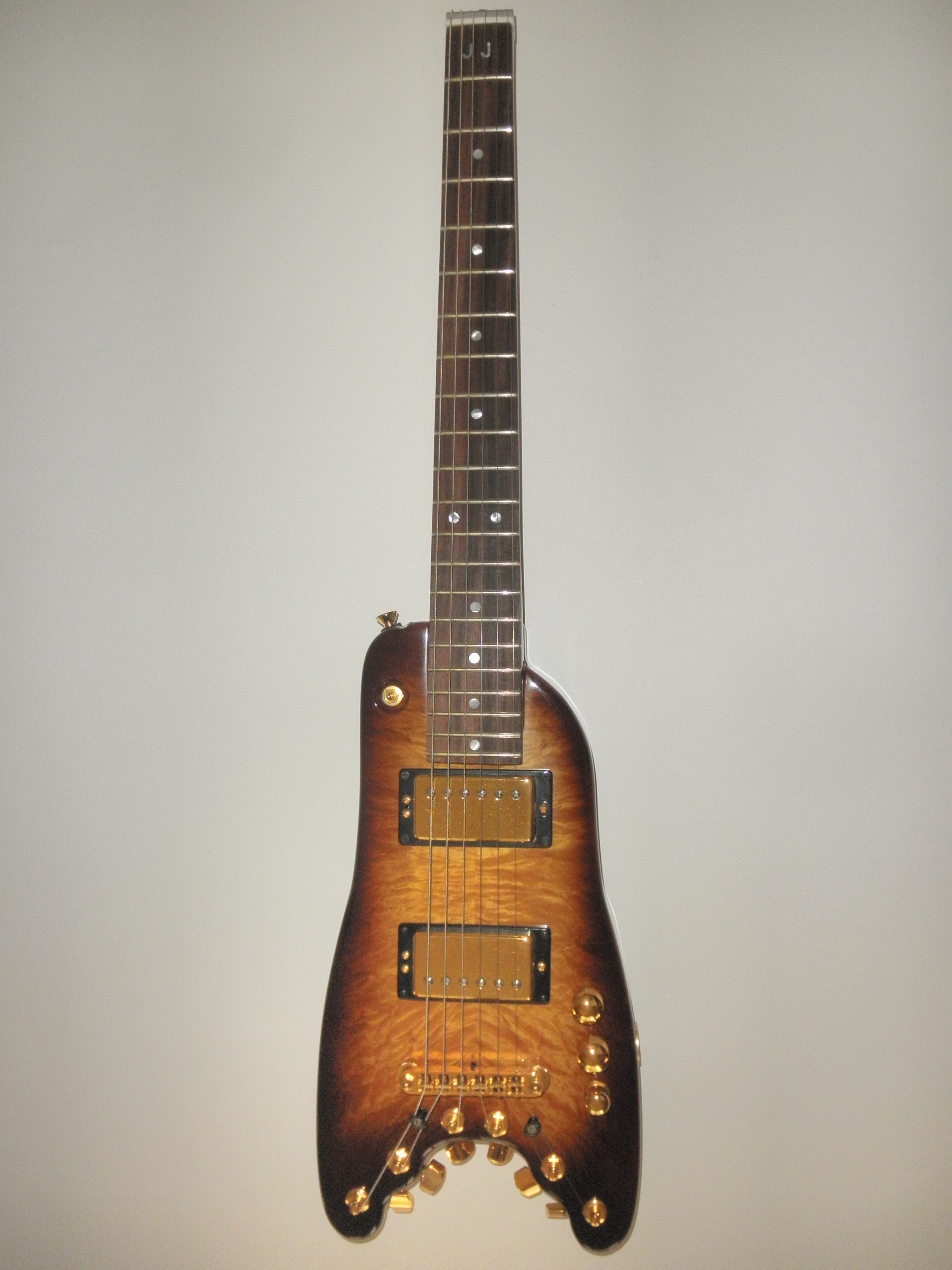 Custom Rambler Trave Guitar - Front view