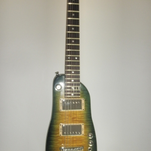 Green Burst Strobel Rambler Travel Guitar