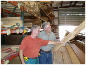 Selecting wood for Custom Rambler® Travel Guitars