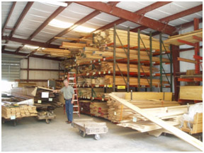 Russ Strobel visting Merrill's Wood Shed in Alva, FL