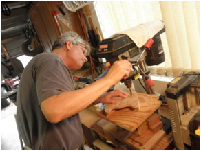 Gene Strobel making some Custom Rambler® Travel Guitars