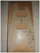 Front Template for a Rambler® Travel Guitar
