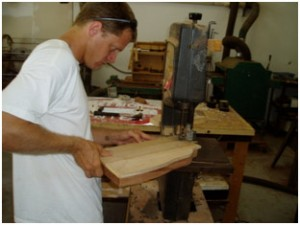 Tim cutting out a Rambler® body.