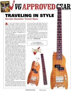 Vintage Guitar 42 Modern Basses:  Strobel Rambler Number 14
