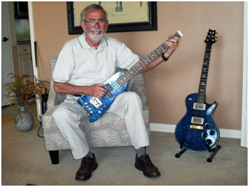 Jim at home with his Rambler Bass