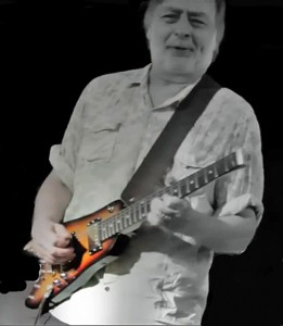 Elliott Randall with his Rambelr Travel Guitar