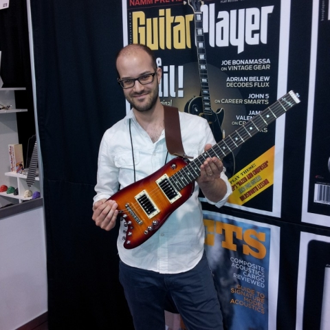 Jon Brudner from Guitar Player with a Rambler Travel Guitar