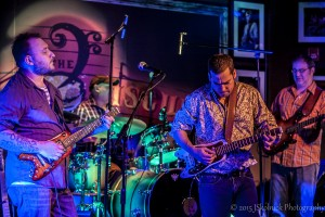 Josh Smith & Albert Castiglia playing Rambler Travel Guitars at the Funky Biscuit