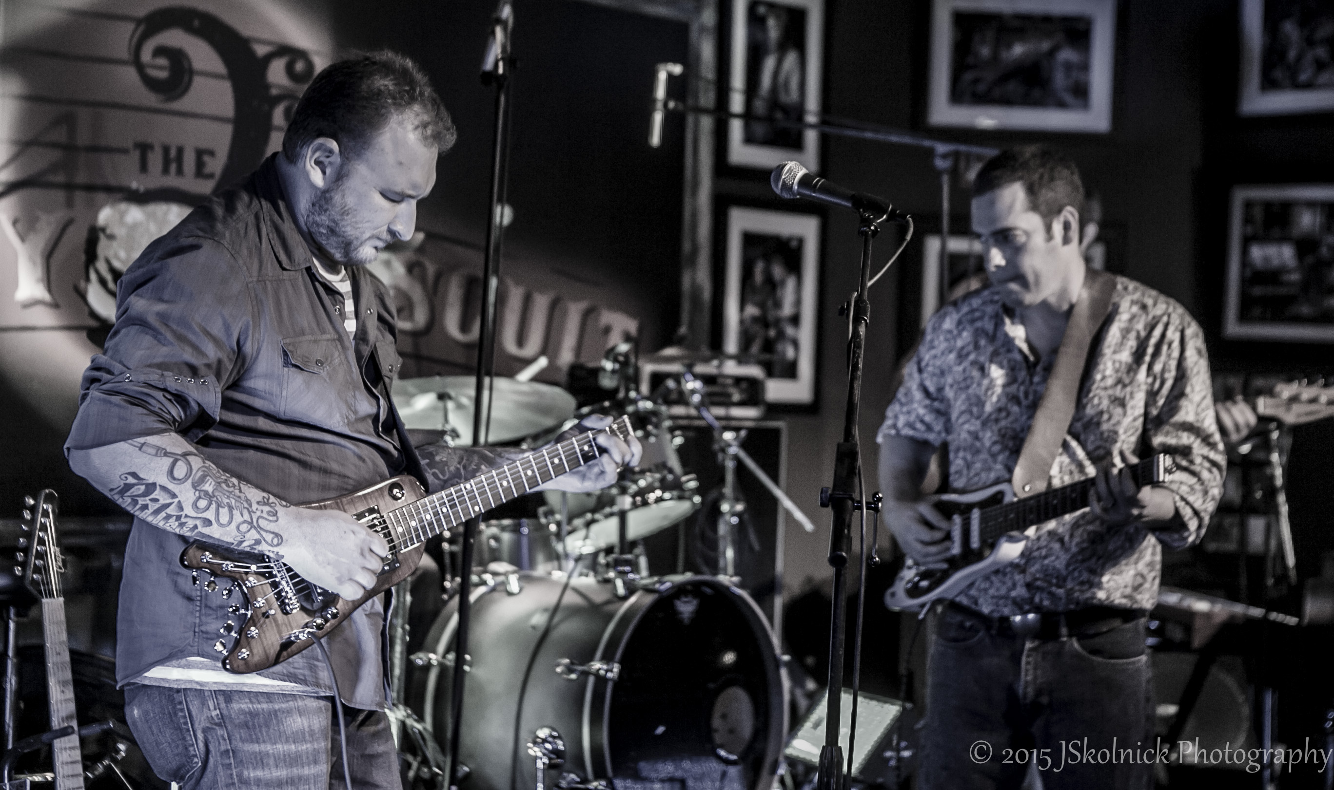 Josh Smith & Albert Castiglia playing Rambler Travel Guitrs at the Funky Biscuit (photo courtesy of Jay Skolink)