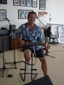 Randy Bernsen checking out a Rambler Portable Guitar