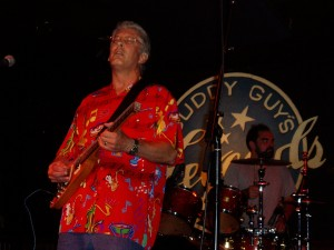 Russ ron stage with his Rambler at Buddy Guy's Legends