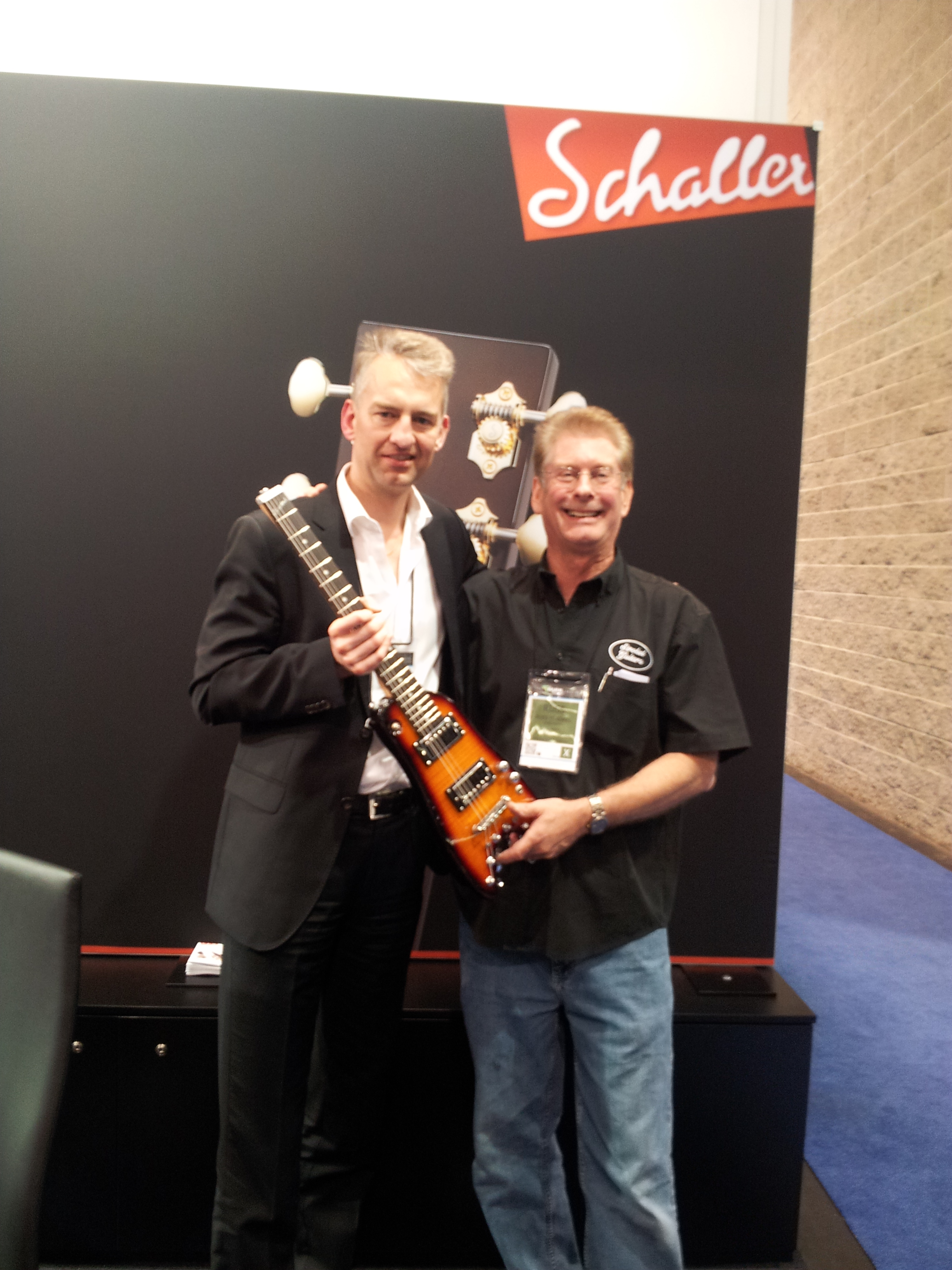 Talking to Lars from Schaller about parts for Rambler Travel Guitars