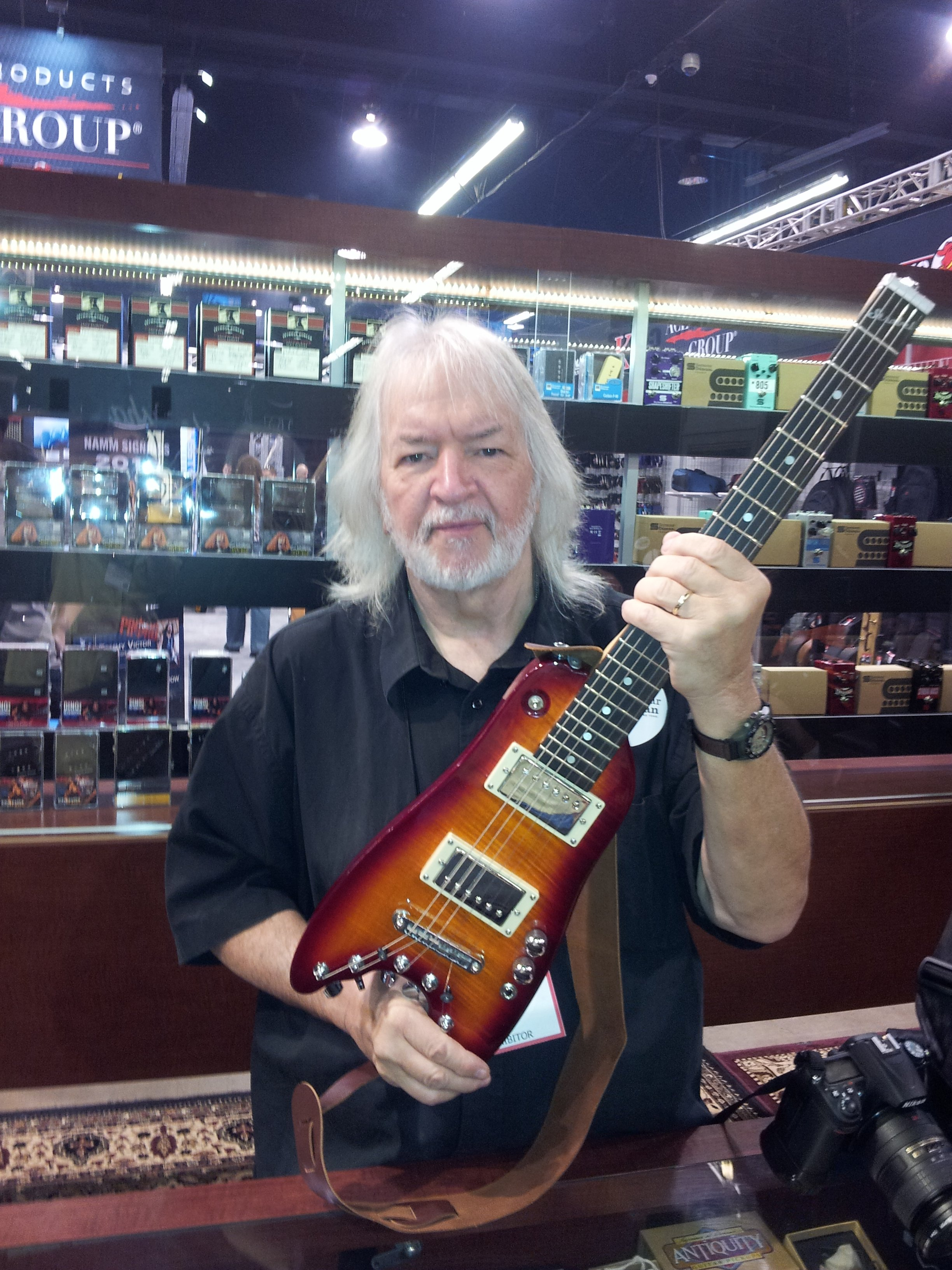 Talking with Seymour Duncan about pick ups for Rambler Travel Guitars