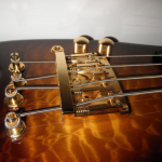 Strobel Rambler Travel Bass in Tobacco Sunburst with Gold Hardware