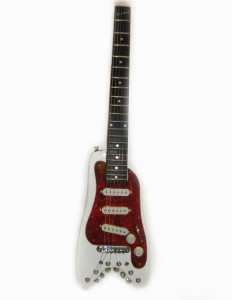 Strobelcaster Travel Guitar in White