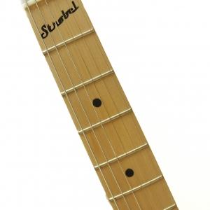 Black STROBELCASTER Travel Guitar comes with Maple Neck