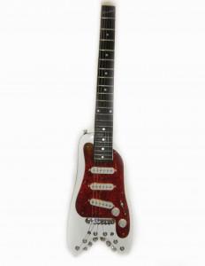 White STROBELCASTER Standard Electric Travel Guitar