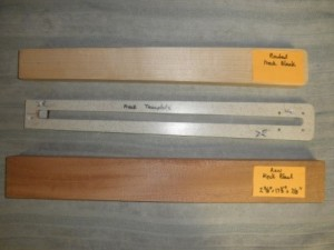 Strobel Guitar neck template
