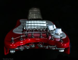 Dakota Red StrobelCaster for Elliot Randall - End view