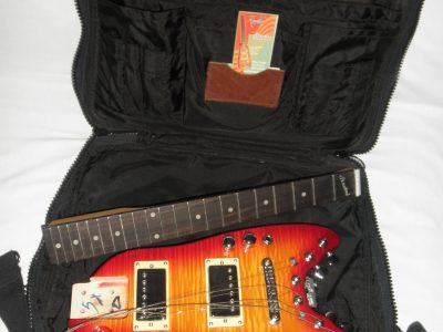 Strobel Rambler Travel Guitar in a Computer Bag - Cherry Sunburst